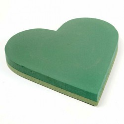 15inch Wet Foam Heart Foam Backed - FS040