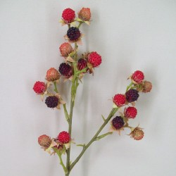 Artificial Blackberries Stem Red Black - BLA003