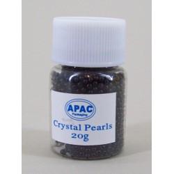Crystal Pearls Gel Beads Black 20g - CP002