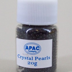 Crystal Pearls Gel Beads Black 20g - CP002