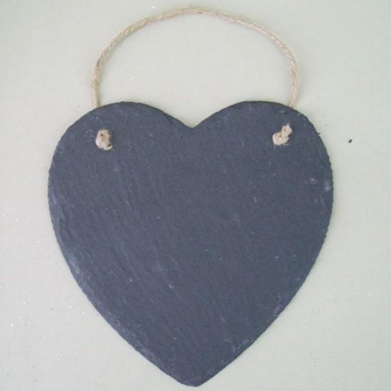 Large Slate Heart - SL001