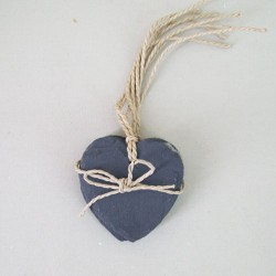 4 Pack of Small Slate Hearts - SL002