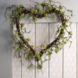 Twig Heart with Green Buds and Leaves - MF900-232 J3