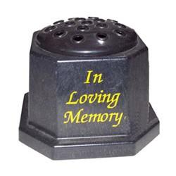In Loving Memory Grave Vase Black - MEV001