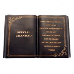 Special Grandad Memorial Book Graveside Tribute - FB008 9C