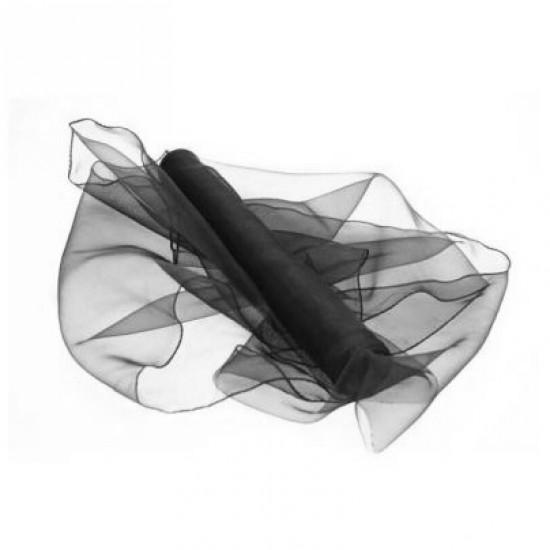 Black Organza Roll 9m x 40cm - ORG021