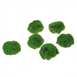 Artificial Moss Stones Assorted 6 Pack Large - MOS008 AA1