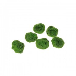 Artificial Moss Stones Assorted 6 Pack Small - MOS017 T1