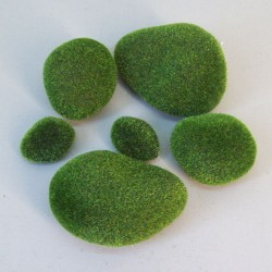 Artificial Moss Stones Assorted 6 Pack - MOS011 U4