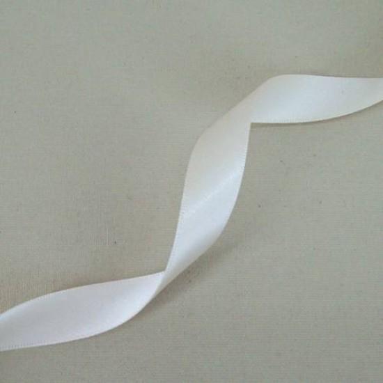 15mm Double Sided Satin Ribbon Cream - DSR001