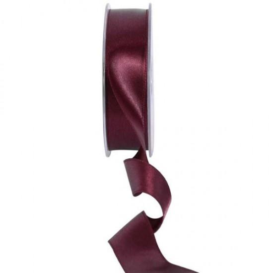 25mm Double Sided Satin Ribbon Bordeaux - DSR017