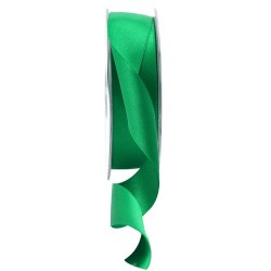 25mm Double Sided Satin Ribbon Emerald Green - DSR015