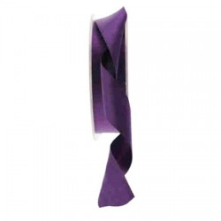 25mm Double Sided Satin Ribbon Purple - DSR012