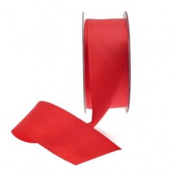 38mm Double Sided Satin Ribbon Red - DSR010