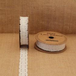 Lace Ribbon White 18mm x 3yds - LAC001