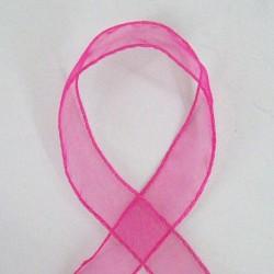 Wired Organza Ribbon Hot Pink - RIB020