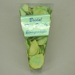 Rose Petals Lime Green Biodegradable Paper - R320