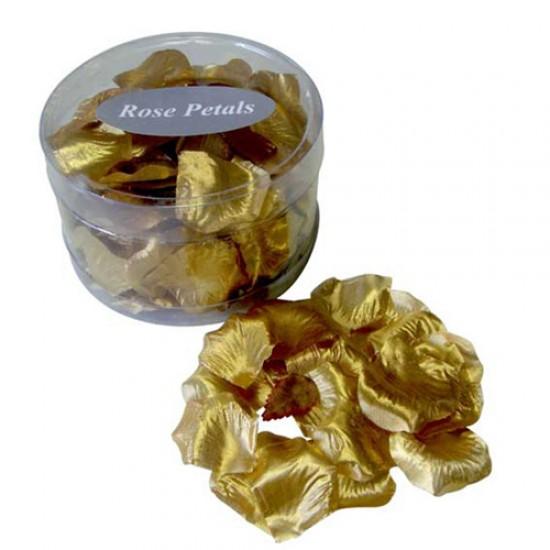 Silk Rose Petals Gold - R324