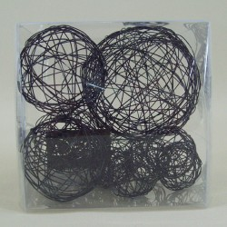 Wire Balls x 10 Black - WBL94