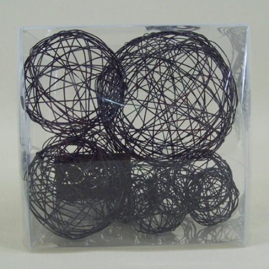 Wire Balls x 10 Black - WBL94