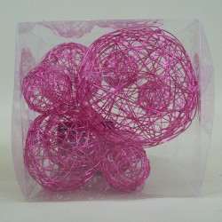 Wire Balls x 10 Hot Pink - WBL13