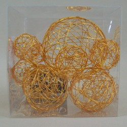 Wire Balls x 10 Orange - WBL70 2D