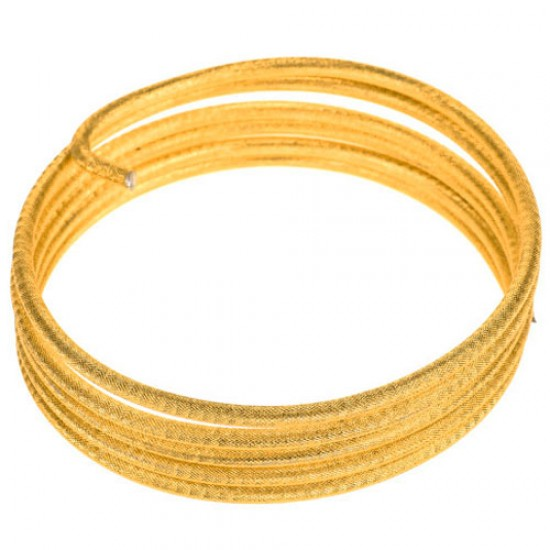 Embossed Aluminium Wire Gold 5mm x 2m - AW014