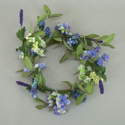 Hydrangeas and Berries Wreath or Centerpiece Blue - MF411-188 BX10