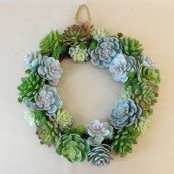 Artificial Succulents Wreath 39cm - SUC038