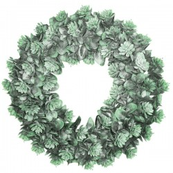 Artificial Succulents Wreath 40cm - SUC044