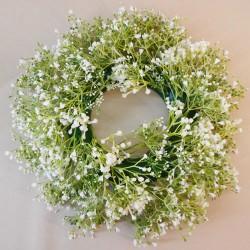 Finest Artificial Gypsophila Wreaths White - G184 HH4