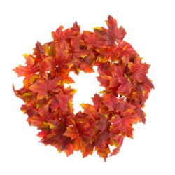 Luxury Artificial Maple Leaves Wreath 61cm - MAP022