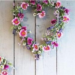 Meadow Flower Heart Pink Purple - MF861 LL3