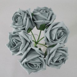 Colourfast Cottage Foam Roses Bundle Grey 6 Pack - R890 U3