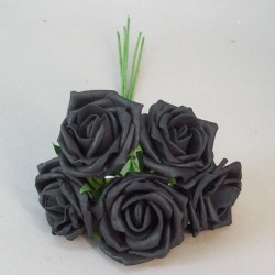 Colourfast Cottage Foam Roses Bundle Black 5 Pack - R840 BX10