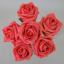 Colourfast Cottage Foam Roses Bundle Coral 6 Pack - R299 U2