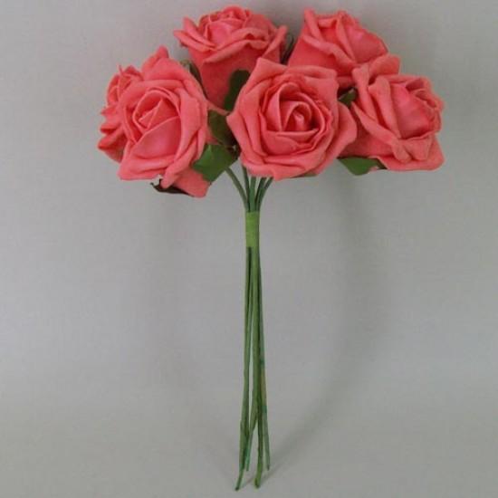Colourfast Cottage Foam Roses Bundle Coral 6 Pack - R299 U2