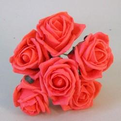 Colourfast Cottage Foam Roses Bundle Coral Orange 6 Pack - R299a U2