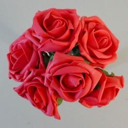Colourfast Cottage Foam Roses Bundle Coral 6 Pack - R137 U2