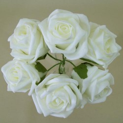 Colourfast Cottage Foam Roses Bundle Ivory 6 Pack - R295 U2