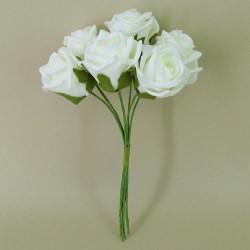 Colourfast Cottage Foam Roses Bundle Ivory 6 Pack - R295 U2
