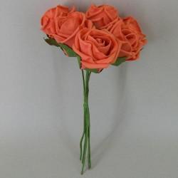 Colourfast Cottage Foam Roses Bundle Orange 6 Pack - R327 T2