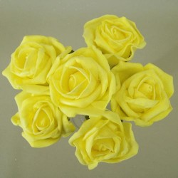 Colourfast Cottage Foam Roses Bundle Yellow 6 Pack - R298 T2