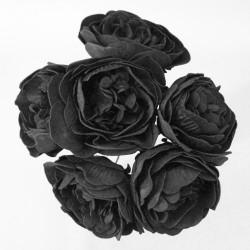 Colourfast Foam Peony Roses Black 6 pack - R294 BX6
