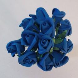 Colourfast Foam Rose Buds Royal Blue 12 pack - R362 U3