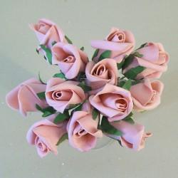Colourfast Foam Rose Buds Vintage Pink 12 pack - R683 U3