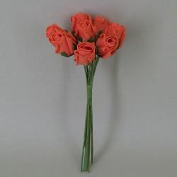 Colourfast Foam Rose Buds Orange 8 pack - R360 S2