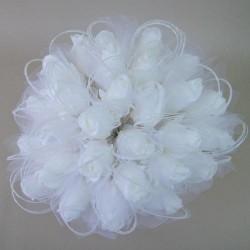 Colourfast Foam Roses Sparkle Large Bridal Posy White White - R349 U1