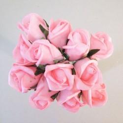 Colourfast Foam Rose Buds Rose Pink 12 pack - R716 U3