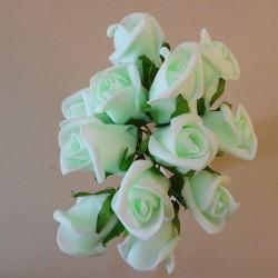 Colourfast Foam Rose Buds Mint Green 12 pack - R634 U2